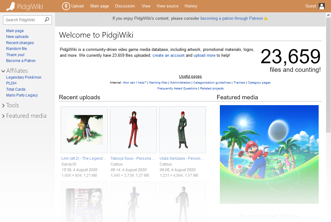 The main page of PidgiWiki